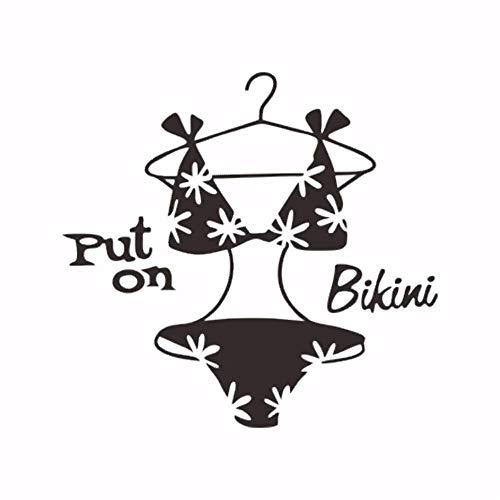 Mode Creatieve Bikini Kledingkast Slaapkamer Dressoir Home Decoratie Woonkamer muur Decoratieve Muursticker