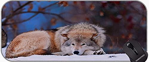 Each Custom Mouse mat,Snow Wildlife Predator Animal Wolf Non-Slip Rubber Base Mousepad
