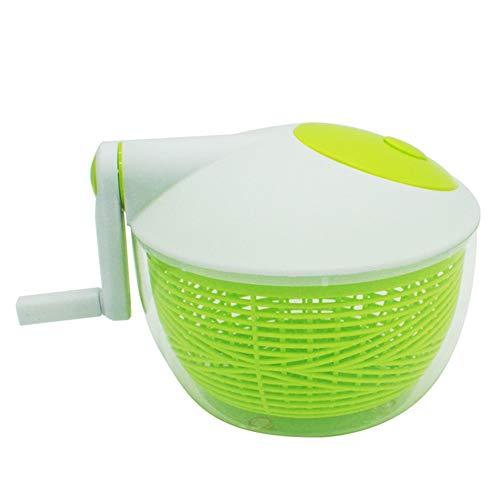 FLU Salat Dörr, Manuell Salat Dörrmultifunktions-Gemüsekohlsalat Rotating Seiher Korb Fruchtsalat-Küche-Werkzeug Salatschleuder