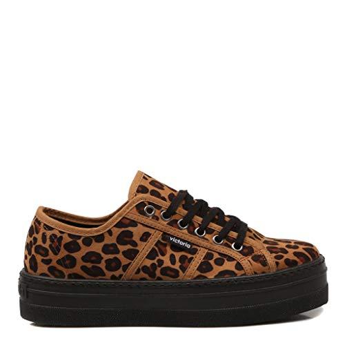 Victoria,VIC 92135 Bambas Color Leopardo para Mujer, 37
