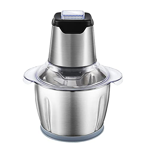 Electric Meat Grinder 2L Capacity Bowl And 2 Sets Of Stainless Steel Blades,200W Low Noise,Simple Operation For Meat,Vegetables,Fruits,Peppers,garlic,etc