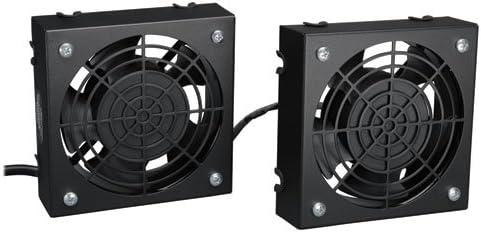 Tripp Lite Wall-Mount Roof Fan Kit, 2 High-Performance Fans, 120V, 210 CFM, 5-15P Plug (SRFANWM) (2-(Pack))