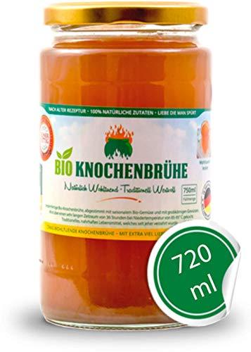 AGADORO Bio Knochenbrühe (6 x 720ml) | 36 Stunden Kochzeit | 100% natürliche Zutaten | nach alter Rezeptur hergestellt | DE-ÖKO-012