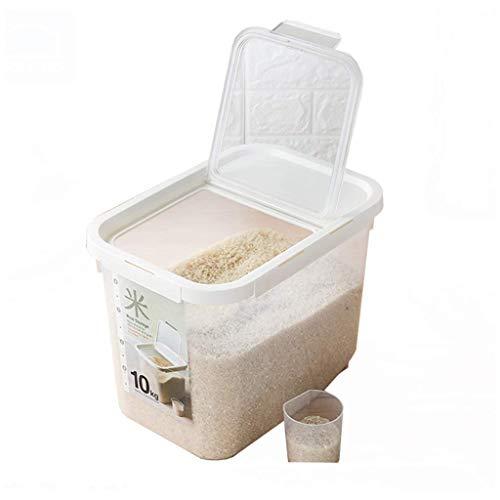 ZXL graanhouder, afneembaar, 10 kg afdichting voor rijst en rijst (wit, afmetingen