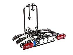 Bullwing SR3+ - Fahrradträger für 3 Fahrräder auf die Auto Anhängerkupplung abklappbar (Spezialverschluss, Diebstahlschutz, 3X Rahmenhalter, Wandhalter, Spanngurt inklusive)