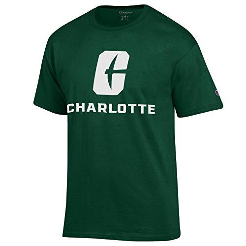 UNC Charlotte 49ers New Logo Adult Green Short Sleeve Tee (Large)