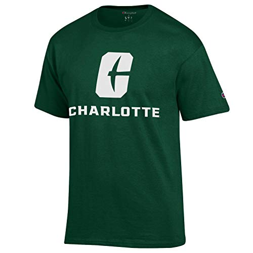 UNC Charlotte 49ers New Logo Adult Green Short Sleeve Tee (Large)