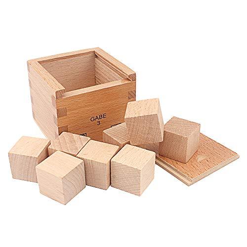 QLL Kids Montessori Wooden Cube Froebel Gabe3 Quantity Creative Learning Education Preschool Training Creativity Develope Preschool