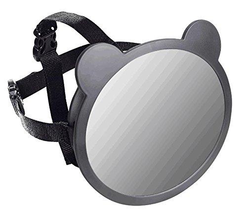Apramo Miroir Auto Bébé avec Forme d'Oreilles Noir