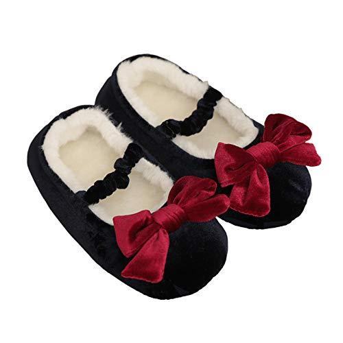 Treslin Herren Hausschuhe 192,Kindertasche mit Baumwollpantoffeln Winterfrauenhaus rutschfeste weiche Unterseite Eltern-Kind-Baby-Frühausbildung Kindergartenb