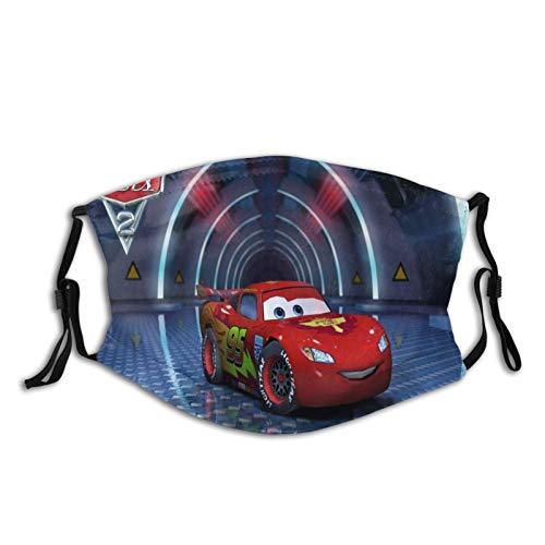 Cars Lightning Mcqueen Fashion - Pasamontañas unisex de tela lavable y reutilizable para adultos y deportes al aire libre