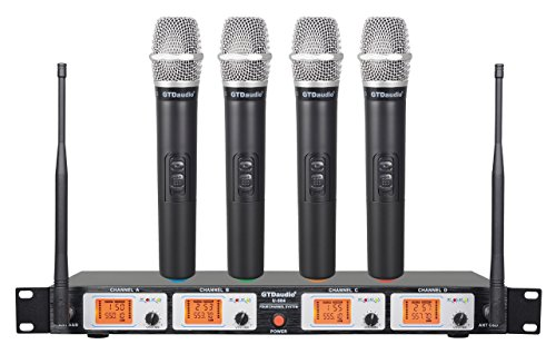 GTD Audio U-504H UHF Wireless Microphone System with 4 Hand held mics