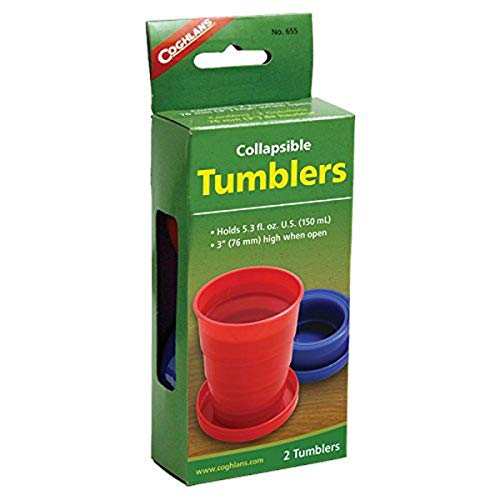 Coghlan's Men's C655 Collapsible Tumblers (Pack of 2), Multi-Colour, One Size