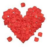 Pétalos de Rosa Artificiales, Pétalos de Seda de Flor de Rosa Roja Falsa para Día de San Valentín,Fiesta de Vacaciones,Decoración de Noche Romántica