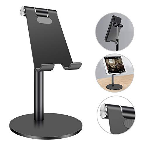 Homealexa Tablet Ständer Verstellbar Handy Halter, Universal Halterung für 2018 iPad Pro 10.5/9.7/12.9, iPad Air 2 3 4, iPad Mini 2 3 4, Samsung, Huawei, iPhone, andere Smartphone und Tab (4