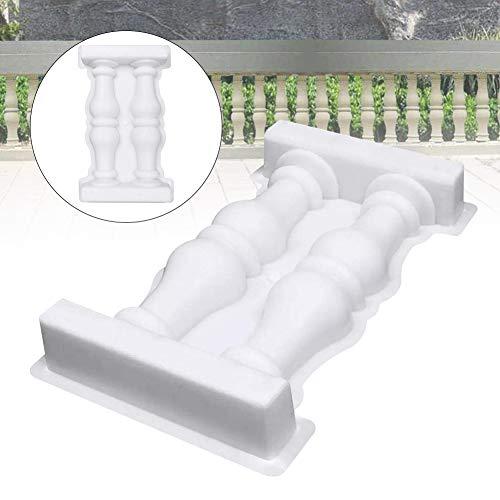Almabner Römische Säulen Zaunform DIY Outdoor Garten Zaun Säulenform Garten Zaun Geländer Gips Beton Form Kunststoff Zaunform für DIY Handwerk Haus Garten Balkon Ornament, Wie abgebildet, 28x50cm