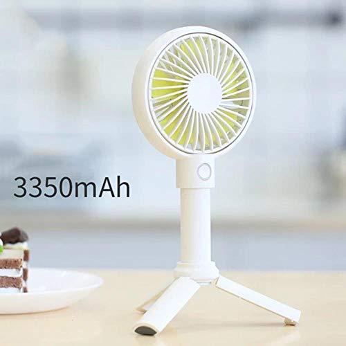 Hand-USB-ventilator koeler draagbare 3-voudig verstelbare miniventilator 3350 mAh oplaadbare handig klein bureau desktop USB-ventilator, wit 3350 mAh, China