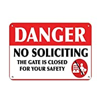 165グレートティンサインアルミニウムの危険安全のためにゲートを閉めることはありません屋外および屋内サイン壁の装飾12x8インチ