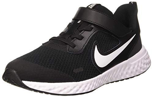 Nike Unisex-Child Revolution 5 (PSV) Running Shoe, Black/White-Anthracite, 33 EU