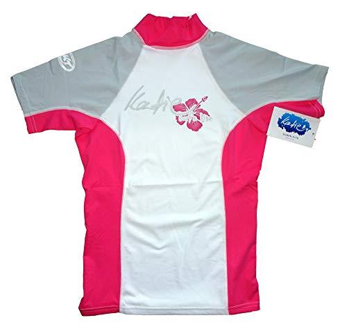 Katie Rashguard Spandex UV-Shirt Damen Kurzarm UPF 50+ Sonnenschutz (pink, S)