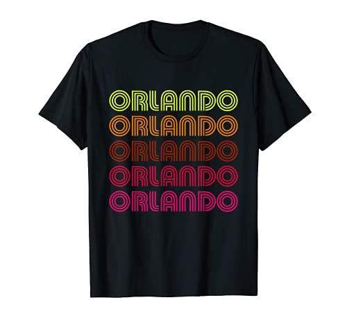 Retro Orlando Florida Inline Schrift Disco Design Vintage T-Shirt