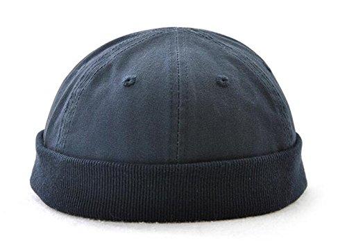 Melii Cotton Kufi Hats Skull Docker Cap Solid For Men Teen Boys