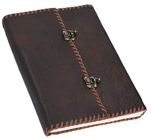 Gusti Buch Leder - Celine Notizbuch Skizzenbuch Gästebuch Tagebuch DIN A4 Braun