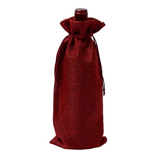 HMILYDYK Bolsas para botellas de vino, para bodas, fiestas, botellas de champán, bolsas de regalo con cordón para botellas de 750 ml, 20 unidades de vino rojo