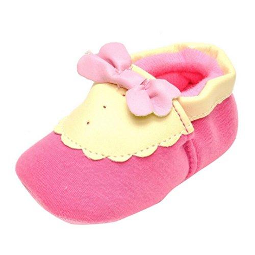 kingko® Nouveau-né Bébé Enfant Fille garder au chaud Chaussures Prewalker Toddler bowknot douce Sole (0~6 mois)