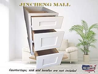 Best white shaker style 3 drawer bathroom storage unit Reviews