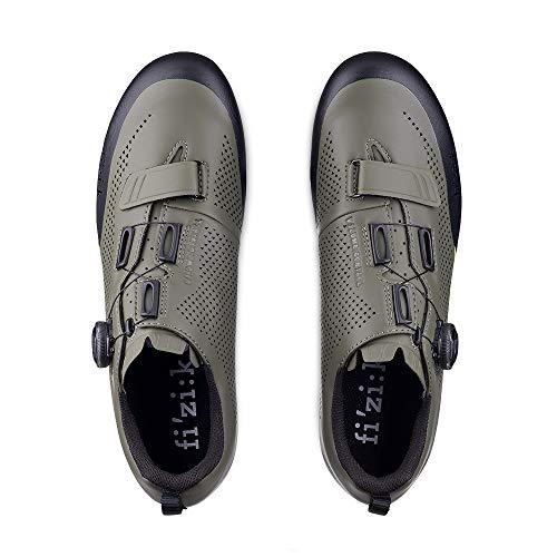 Fizik X5 Terra, Zapatillas de Ciclismo para Hombre, Hombre, Zapatillas de Ciclismo, Verde Militar Tangy Verde, 12.5 UK