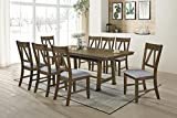 Kings Brand Furniture - 9 Piece Howell Wood Dining Room Set. Table & 8 Chairs, Brown/Blue