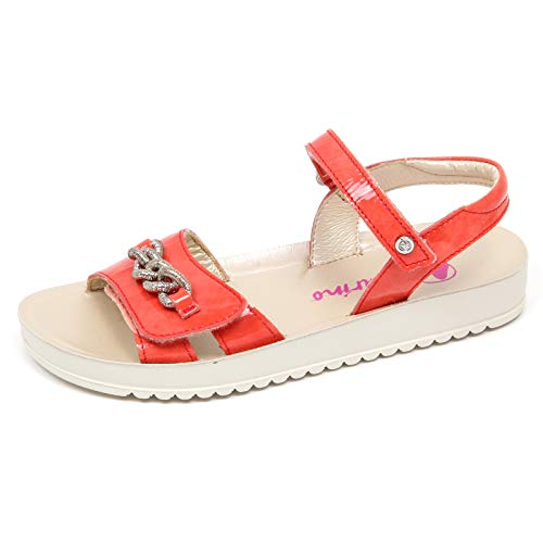 Naturino E9276 Sandalo Bimba Girl Coral Scarpe Strappi Patent Shoe Sandal [31]