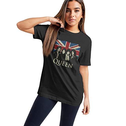 Women's Queen Band British Flag T-shirt, S to XXL