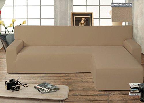 Funda de sofá Genius con chaise longue, modelo Swing, color pardo