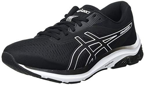 ASICS Herren Gel-Pulse 12 Road Running Shoe, Black/White, 46.5 EU