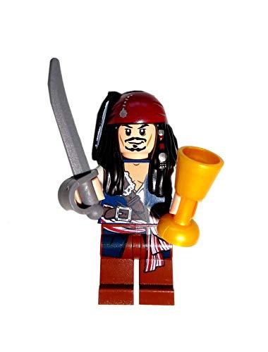 LEGO® Fluch der Karibik / Pirates of the Caribbean™ Minifigur Jack Sparrow mit Säbel und goldenem Kelch