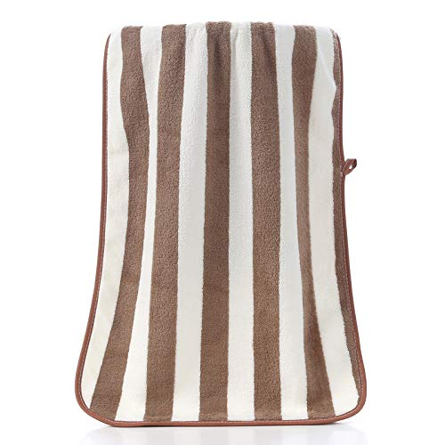Hey shop Coral fleece plain towel 35 * 75cm thick and absorbent