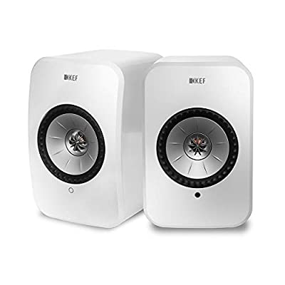 KEF LSX - Wireless Active Stereo Speakers with Bluetooth and Wifi Multiroom connectivity, Gloss White from KEF