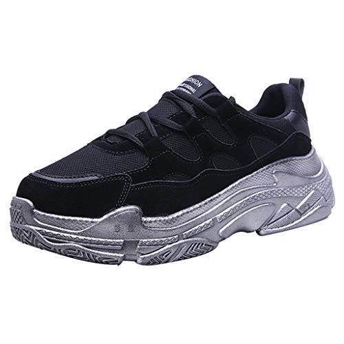 OSYARD Femmes Compensée Baskets Mode Chaussures en Cours D'ExéCution Chaussures de Sport Fond éPais Chaussures à Bascule Gymnastique
