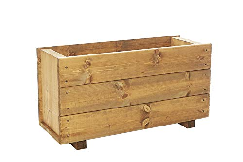 Ruddings Wood Deep Wooden Trough Planter