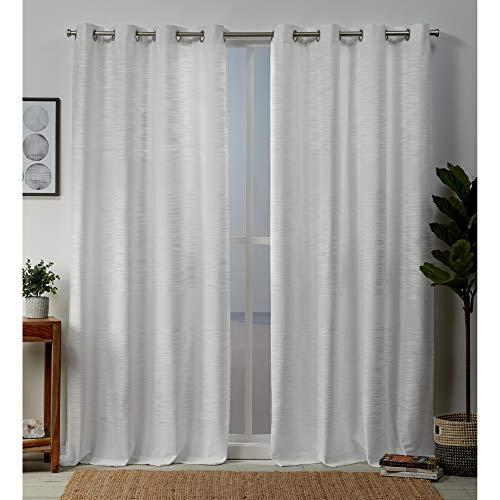 Exclusive Home Curtains Kadomo Panel Pair, 54x84, White