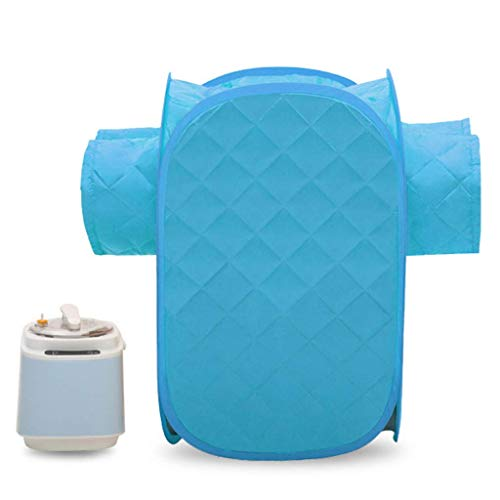Sauna Box Steaming Room Double Plox Detox Steam Machine Fumigation Body Sweat Slimming 1000W 9 Modes 2L Acier Inoxydable Cordon R/églable Sac De Rangement