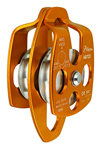 ALIENS Big Double Pulley Seilrolle, Farbe:Gold