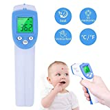 Moonvvin Digital Infrared Baby Thermometer Forehead Thermometer LCD Non-Contact IR Forehead Body Temperature Measurement Tool