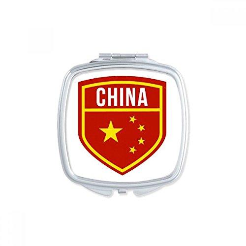 DIYthinker Gemaakt in China Shield Nationale Vlag Sterren Rood Geel Chinees Vierkant Compact Make-up Pocket Spiegel Draagbare Leuke Kleine Hand Spiegels Gift