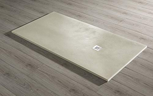 Piatto doccia ultraslim mod. base Beton 80x120 scarico 38.4 l/min (beige)