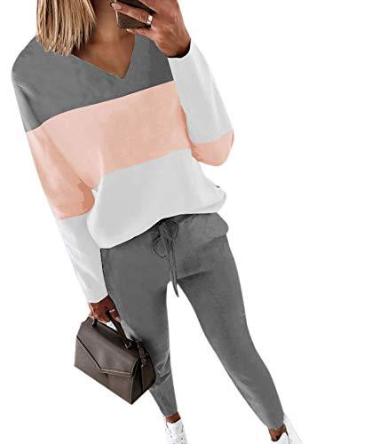 Conjunto de 2 piezas de chándal estampado de tallas grandes para mujer con sudadera y pantalones para correr