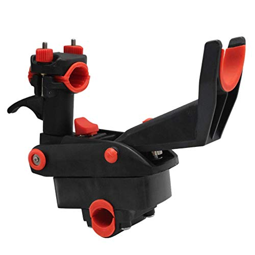 BJLWTQ Adjustable Side Rail Mount Kayak Boat Fishing Pole Rod Holder Tackle Kit