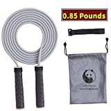 Slim Panda 10 Ft Weighted Skipping Rope with Non Slip Tennies Strap Handles